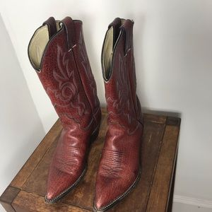 Justin Leather calf Length cowboy boots